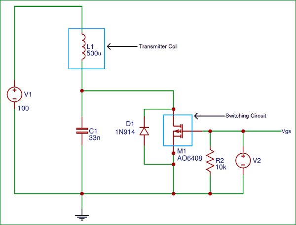 Wireless Charger Transmitter Circuit diagram