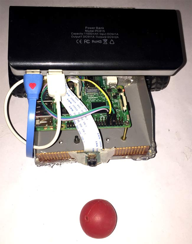 Raspberry Pi Ball Tracking Robot using Processing