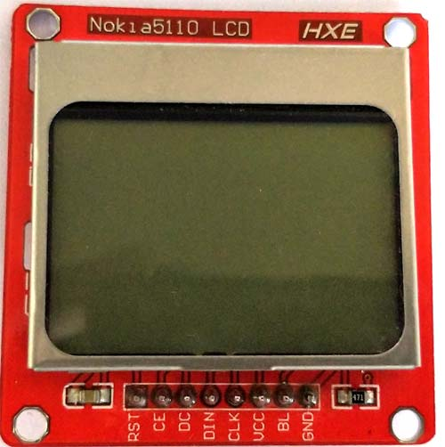 nokia 5110 graphical lcd display