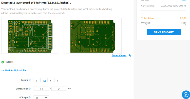 ordering pcb for DIY Arduino Relay Driver Shield PCB