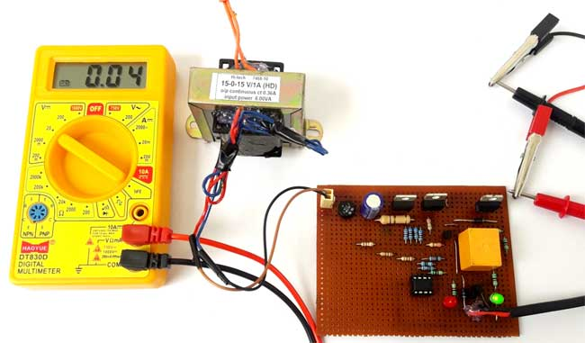 working of float charger circuit for 12v battery