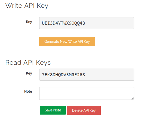 API Key for Voice Controlled Home Automation using ESP8266 and Arduino