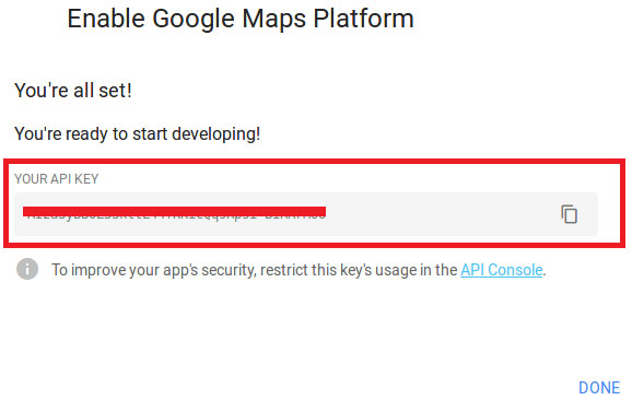 API key from Google Geolocation
