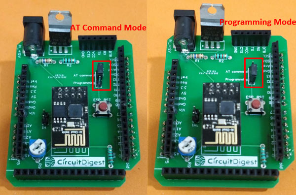Arduino Wi-Fi Shield Programming mode and AT mode
