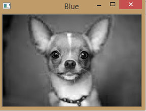 Blue Component of Image using OpenCV