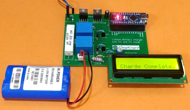 Charging Battery using 7.4V Two Step Lithium Battery Charger Circuit