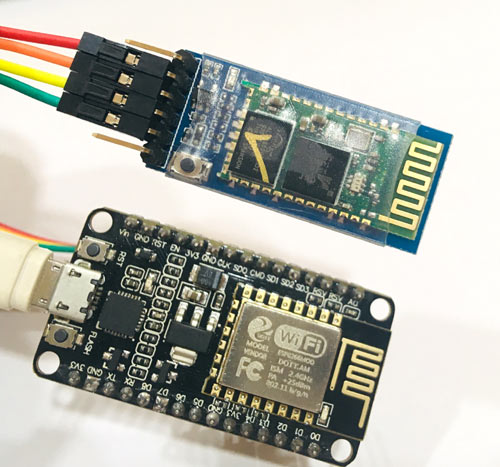 Circuit Hardware for Bluetooth Module interfacing with ESP8266