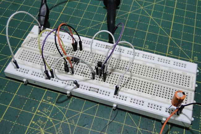 Circuit Hardware for Capacitor ESR Meter using 555 Timer