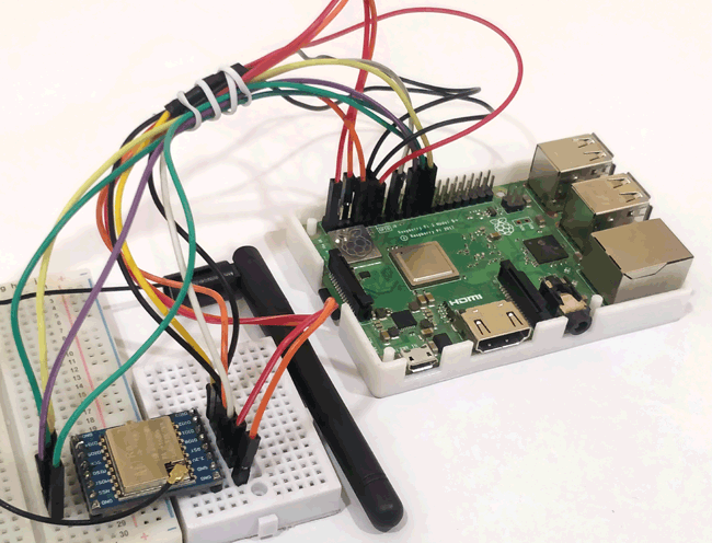 Circuit Hardware for Connecting Raspberry Pi with LoRa
