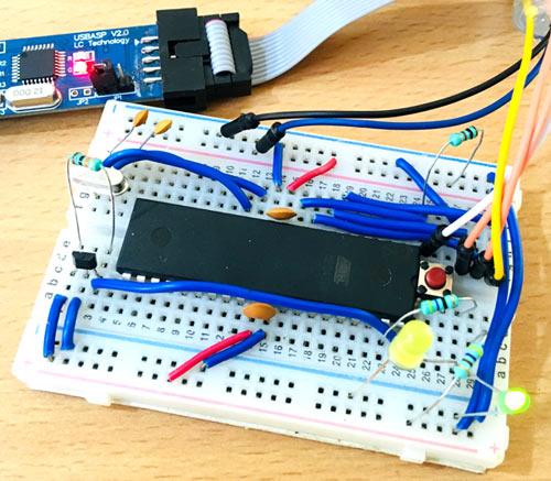 Circuit Hardware for Interfacing Hall Sensor with AVR Microcontroller ATmega16