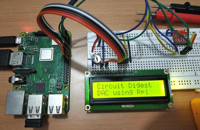 Raspberry Pi MCP4725 DAC Tutorial: Interfacing MCP4725 12