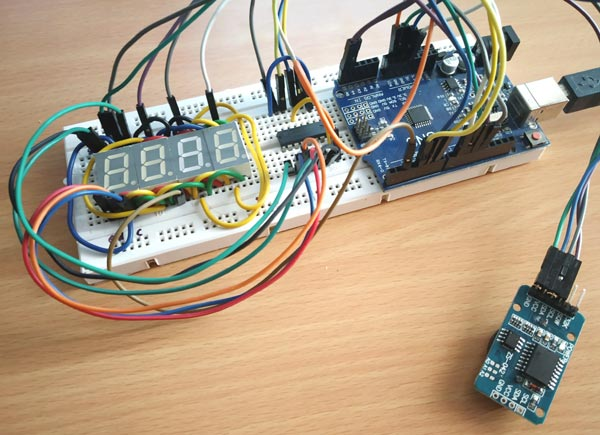 Arduino 7 Segment Display Clock Circuit Hardware