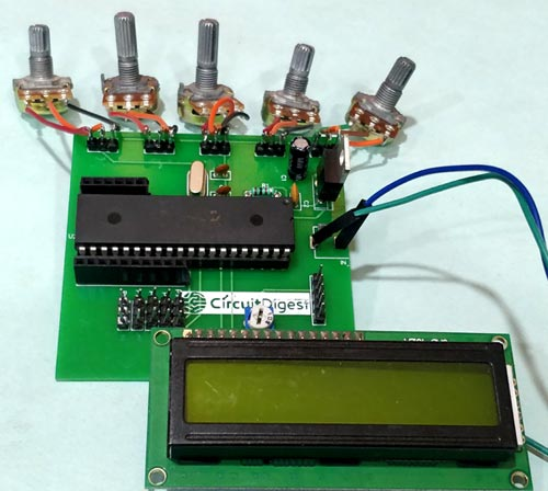 Circuit Hardware for Robotic Arm Control using PIC Microcontroller