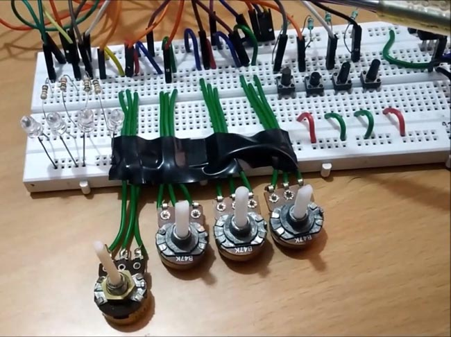 Circuit Hardware for Robotic Arm using ARM7 LPC2148 ARM Microcontroller