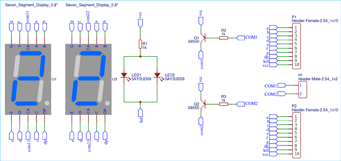 Components Symbol for Digital Wall Clock using AVR Microcontroller Atmega16 and DS3231 RTC