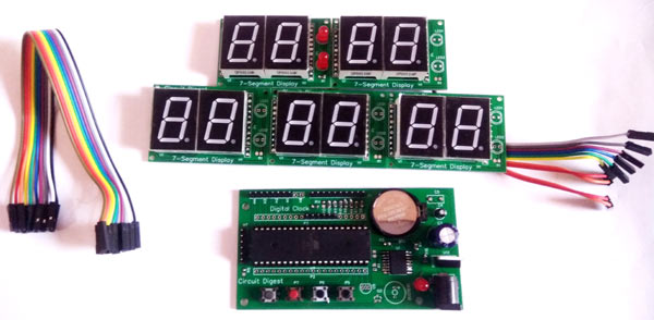 Components for Digital Wall Clock using AVR Microcontroller Atmega16 and DS3231 RTC
