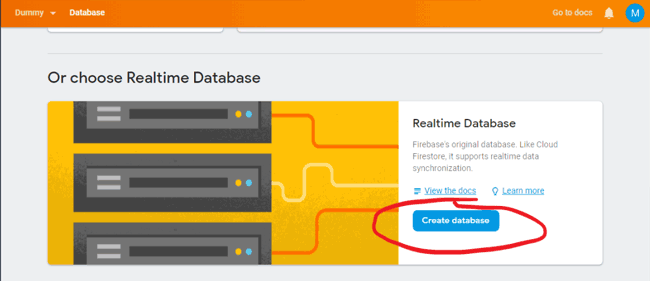 Create Database for Controlling LED using Google Firebase