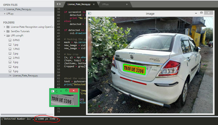 Detecting Number Plate using Image Processing and Pi