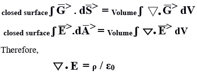 Differential form of Maxwell equation