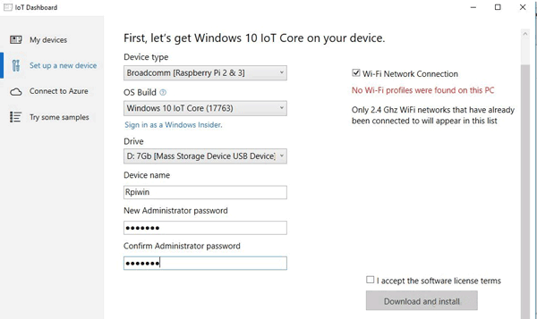 Downloading Windows 10 IoT Core on Raspberry Pi