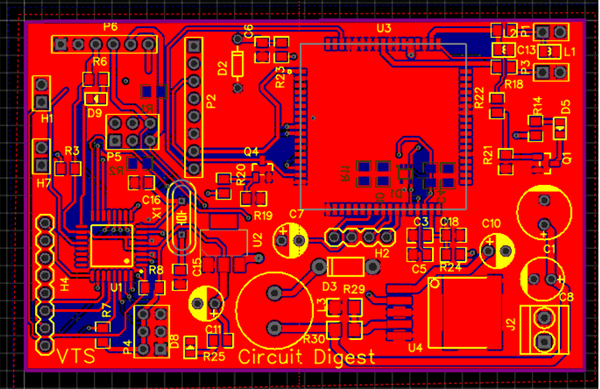 Fabricating PCB for GSM Location Tracker