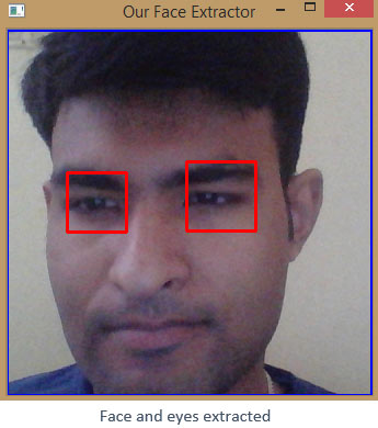 Face and Eyes Extracted using OpenCV
