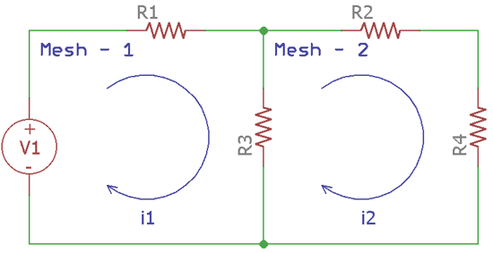 Find current in Circuit using Mesh Analysis