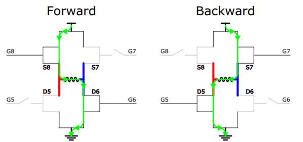 Simple H Bridge Motor Driver Circuit using MOSFET on