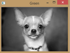 Green Component of Image using OpenCV