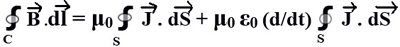 Integral form of Maxwells Fourth Equation