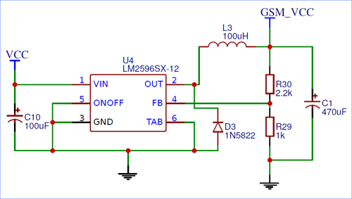 LM2596 Power Module Circuit Diagram