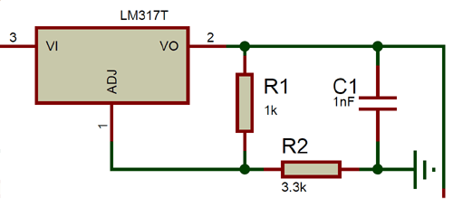 LM317 Voltage Regulation