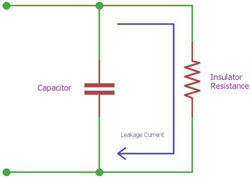 Leakage Current in a RC Circuit