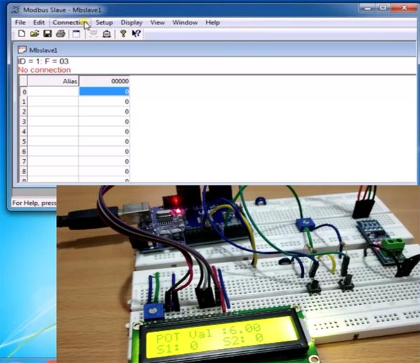 Modebus Slave Tool for Serial Communication