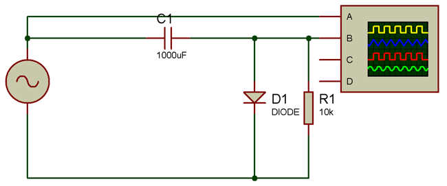 Negative Clamper Circuit Diagram