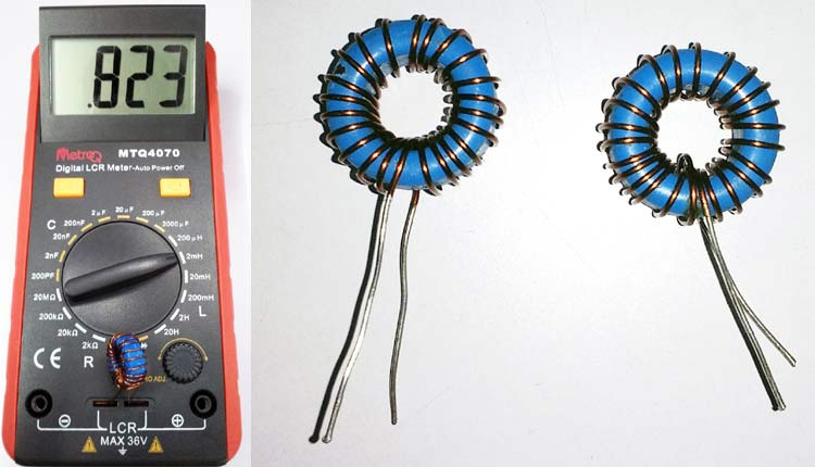 Oscilloscope to measure the value of Inductor