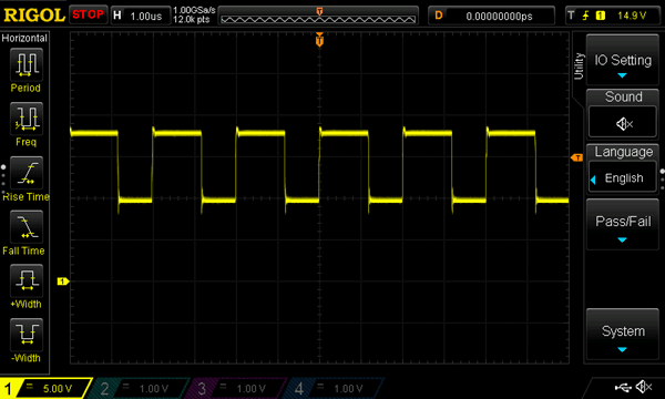 Output Waveform of Single Stage on Charge Pump Circuit