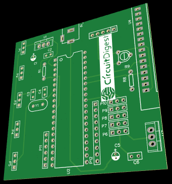 PCB for Robotic Arm Control using PIC Microcontroller