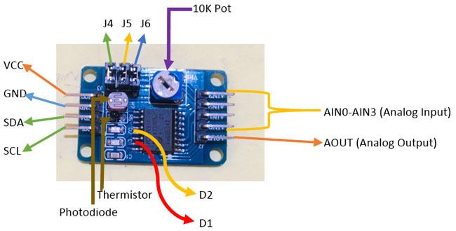 PCF8591 ADC Module Pinout