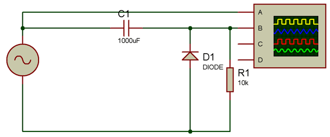 Positive Clamper Circuit Diagram