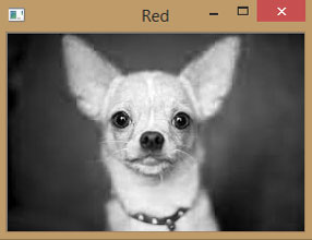 RED Component of Image using OpenCV