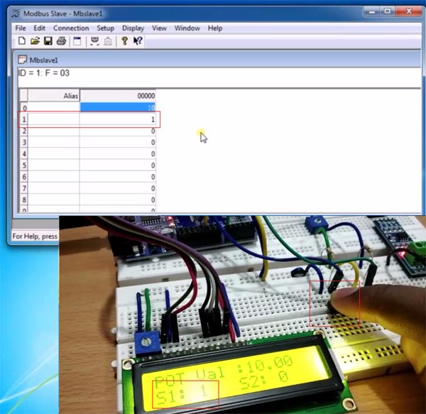 Receiving Data on LCD with Arduino using RS485 Serial Communication