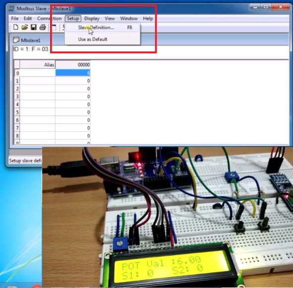 Set Modebus Tool as Slave for RS485 Serial Communication