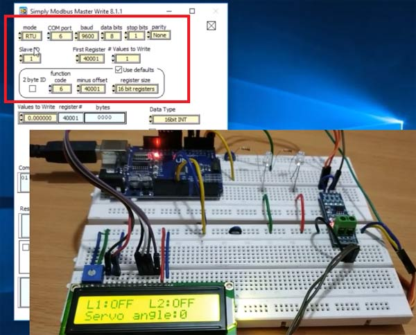 Setting Parameters for Arduino UNO as RS-485 Modbus Slave