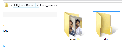 Setting up Face Images directory with sample faces