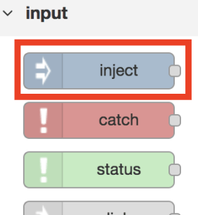 Setup Button for Flow in Node-RED