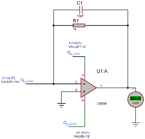 Simulation for Transimpedance Amplifier Current to Voltage Converter