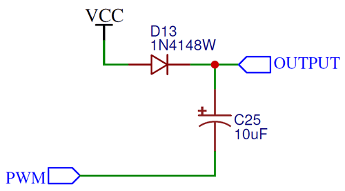 Single Stage on Charge Pump Circuit