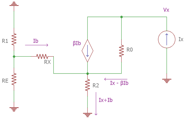 Small Signal Circuit for Widlar Current Source