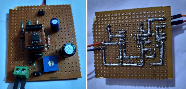 Soldered Boost Converter Circuit Hardware